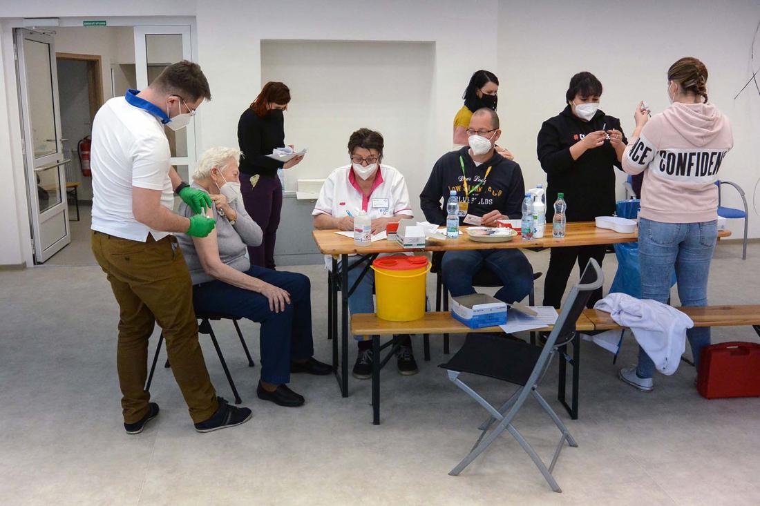 Očkování v centru Totem